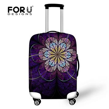FORUDESIGNS Vintage Elastic Luggage Protective Covers for 18-30 inch Trunk Suitcase 3D Flower Waterproof Dustproof Rain Covers