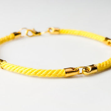 Four quarter nautical rope bracelet - Yellow