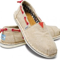 TOMS Shoes Burlap Bimini Stitchouts Women's Shoes,