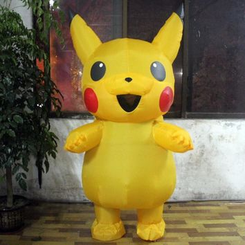 Pikachu Costume Pokemon Halloween Costumes For Adult Inflatable Cosplay Outfits Popular Cosplay Costume New Style