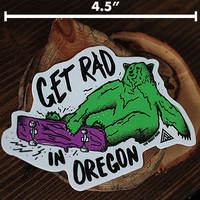 Get Rad Sticker | The Great PNW