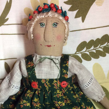 Textile doll Interior doll Primitive doll Folk doll handmade doll