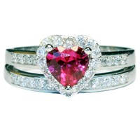 Red Heart Promise Ring Front