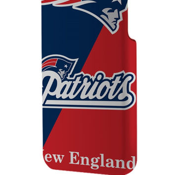 Best 3D Full Wrap Phone Case - Hard (PC) Cover with New England Patriots Logo Design