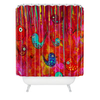 Sophia Buddenhagen Bird Party Shower Curtain