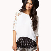 Crocheted Dolman High-Low Top