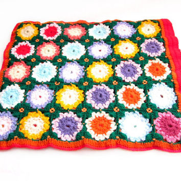 Handmade Crochet Granny Square Pillow Case - 2