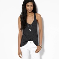 AE Favorite V Tank, True Black | American Eagle Outfitters