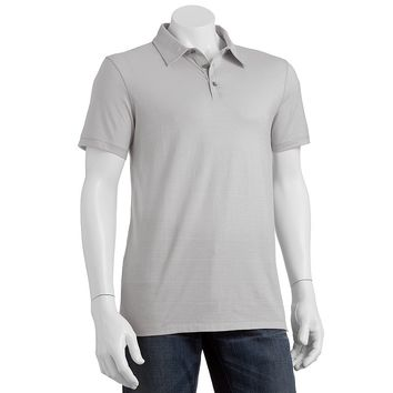 Marc Anthony Slim-Fit Textured Polo - Men, Size: XXL (Grey)