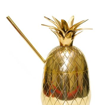 Handcrafted Brass or Copper Pineapple Moscow Mule Mug