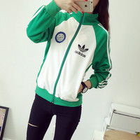 """Adidas"" Zipper Cardigan Sweatshirt Jacket Coat Sportswear"