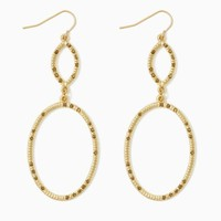 Jaira Drop Hoop Earrings | Fashion Jewelry - Earrings | charming charlie