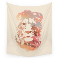 Society6 Desert Lion Wall Tapestry