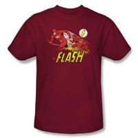 The Flash Crimson Comet Crimson Red Adult T-shirt  - Shirts Sheldon Has Worn - | TV Store Online