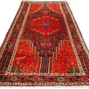 Touserkan Runner Persian Handmade 5' x 12' Color Abrash Semi-Antique Red Rug