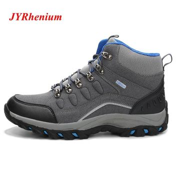 Waterproof Hiking Shoes Man Tactical Shoes Hiking Sneakers Outdoor Big Size Mountain Sneakers Trekking Boots Antiskid
