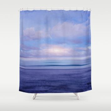 The Sea is Calm 02 Shower Curtain by NaturalColors