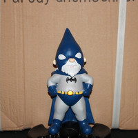 Bat Gnome parody garden gnome inspired by DC Comics Batman (TM)