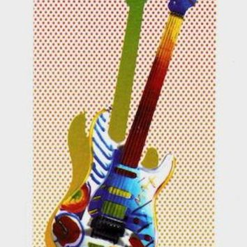 Rock N' Roll Guitar I, Limited Edition Lithograph, Peter Max