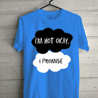 i'm not okay, i'm promise Carolina Blue Screen print Funny shirt for t shirt mens and t shirt girl size s, m, l, xl, xxl