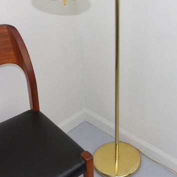 Floor Lamp Mid Century Modern Brass German Holtkoetter Leuchten Holtkotter Pharmacy Chairside Reading Light Adjustable Extension Lighting
