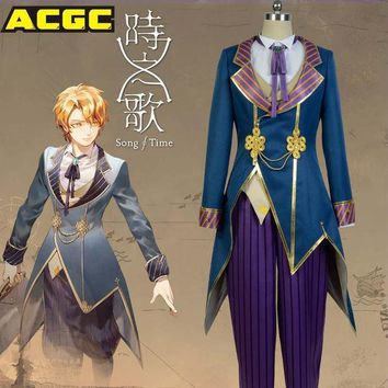 Song Of Time Project Yuno Asker Cosplay Uniform Cosplay Costume Shirt+pants+vest+coat+bowtie Halloween Costume For Men Women