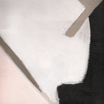Abstract Art Print, Pastel Painting Giclee, Pink and White Abstract Painting Detail, Pastel Art on Paper