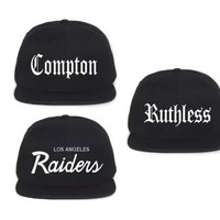 NWA Compton , Raiders E Ruthless Cap Hat Embroidered Game Men Adjustable snapback Las Vegas Curved baseball cap men women