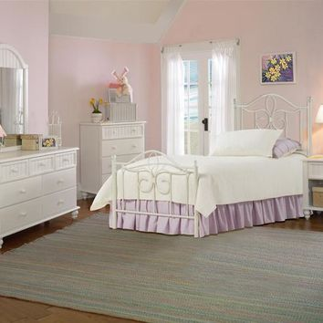 1354-westfield-metal-bed-full-rails-nightstand-dresser-mirror-and-chest - Free Shipping!
