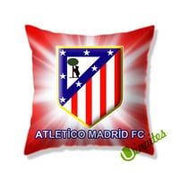 Atletico Madrid Fc Logo Square Pillow Cover