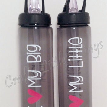 Big Little Sorority water bottle Personalized sorority gift set