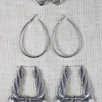 Circle And Hoop Earring Set