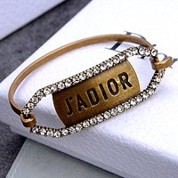 Dior New Embossed J'ADIOR Letter Women's Bangle
