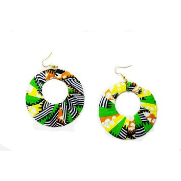 Handmade African Print Ethnic tribal earrings