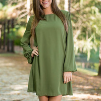 Leave Me Reeling Dress, Green