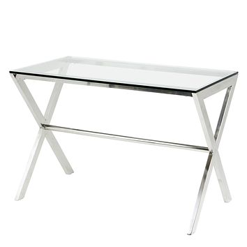 Glass Home Desk | Eichholtz Criss Cross