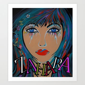 Zahara In Full Color Art Print by Kathleen Sartoris