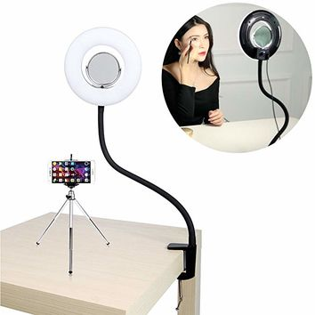 TRUMAGINE Selfie Ring Light Photo Live Stream Video Make Up Light Lamp Dimmable 8-inche 24W 5500K for Portrait Photography and YouTube Vine Video Shooting
