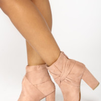 Wrap Me Up Heeled Bootie - Mauve