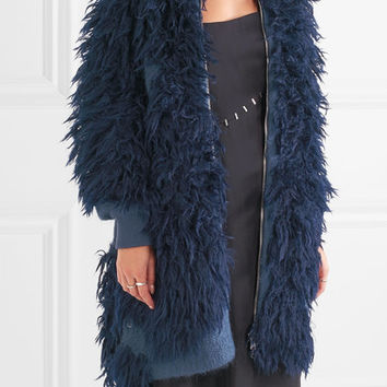 3.1 Phillip Lim - Faux fur and bouclé-knit jacket