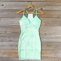 Beloved Lace Dress in Mint
