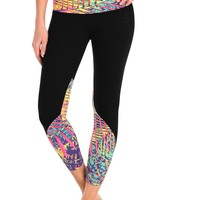 Equilibrium Active Wear Tropical Palm Leggings