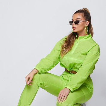 Eastside Wind Breaker Two Piece Set Neon