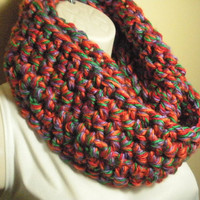 Autumn Fall Cowl Infinity Circle Scarf Neckwarmer Multicolor