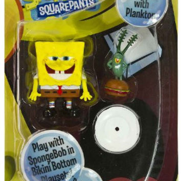 "SpongeBob w/ Plankton ~2.25"" Posable Mini-Figure: SpongeBob Squarepants Series"