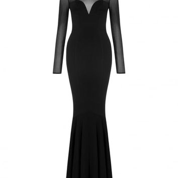 COLLECTIF MAINLINE MORTICIA FISHTAIL DRESS