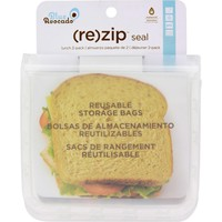 Blue Avocado (Re) Zip Seal Lunch Bag - Translucent - 2 Pack