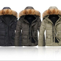 Men's Slim Stylish Trench Coat Winter Long duck down Jacket Double Breasted Overcoat 3 colors = 1697289668