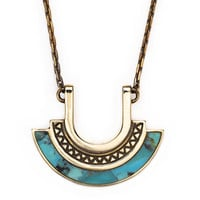 Halo Necklace with turquoise