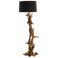 Arteriors Home Ashland Gold Leaf Dragon Tree Root Floor Lamp - Arteriors 72402-791